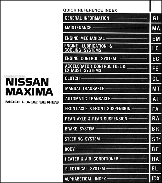 1995 Nissan Maxima Wiring Diagram Electrical Circuit Digramrhyy6sigmasolutionsco: 1995 Nissan Maxima Wiring Diagram At Gmaili.net