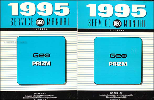 1995 Geo Prizm Shop Manual Original Set