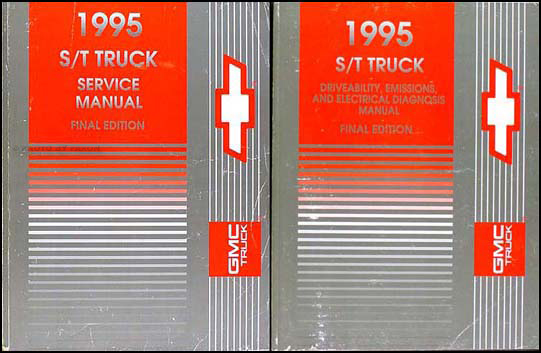 1995 S-10 Pickup Blazer Sonoma Jimmy Repair Shop Manual Set Chevy GMC Truck