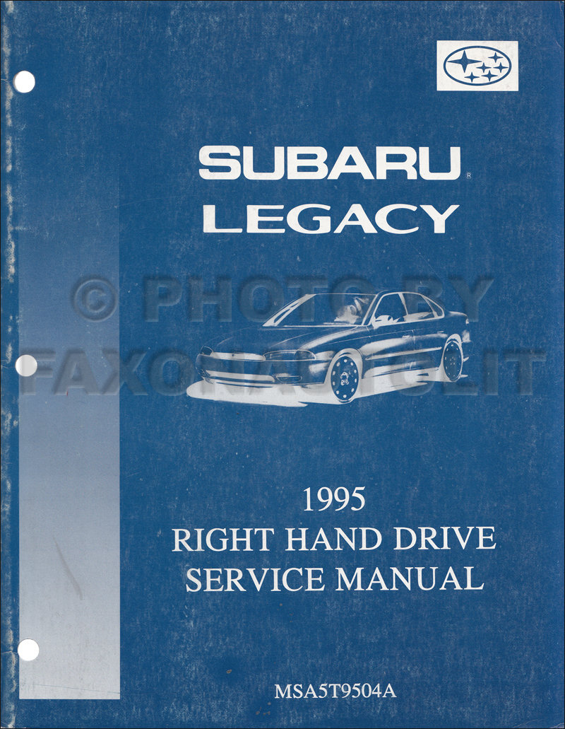 1992 Subaru Legacy Repair Manual RHD Supplement Original