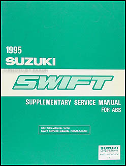 1995 Suzuki Swift ABS Brakes Repair Manual Original Supplement