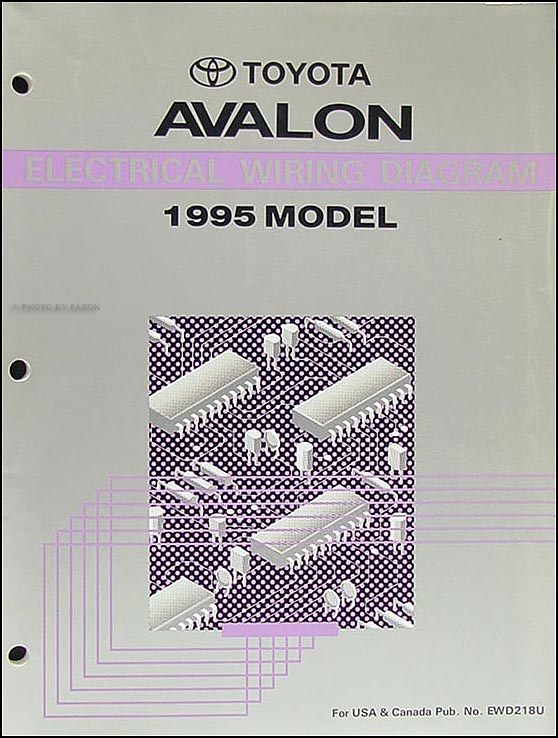 1995 Toyota Avalon Wiring Diagram Manual OriginalFaxon Auto Literature