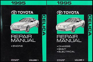 1995 Toyota Celica Repair Manual Original 2 Volume Set