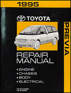 1995 Toyota Previa Van Repair Manual Original