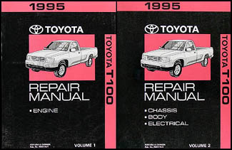 1995 Toyota T100 Repair Manual Original 2 Volume Set
