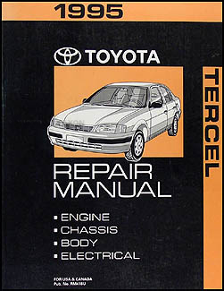 1995 toyota tercel repair shop manual original 1995 toyota tercel repair shop manual original