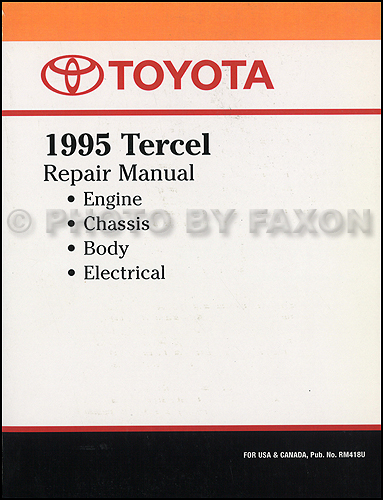 1995 Toyota Tercel Repair Manual Reprint