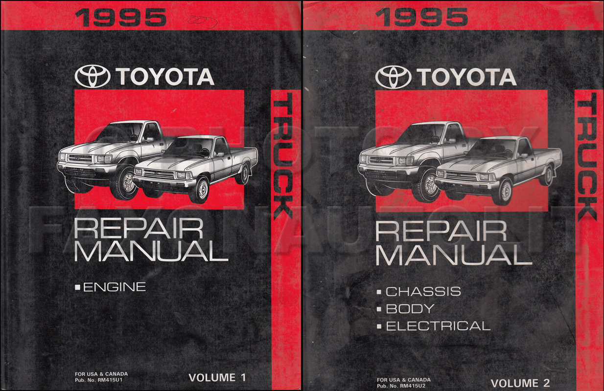 1995 Toyota Truck Wiring Diagram Manual Original