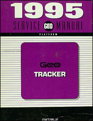 1995 Geo Tracker Shop Manual Original