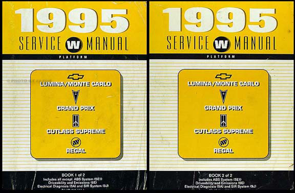 1995 Chevrolet Lumina Monte Carlo Preliminary Repair Shop Manual Original 2 Volume Set
