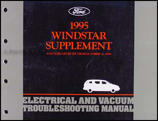 1995 Ford Windstar Electrical and Vacuum Troubleshooting Manual Supp.