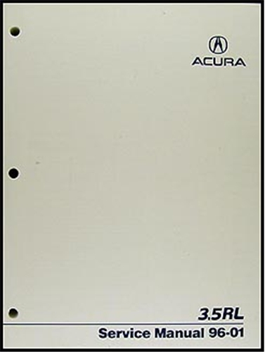1996-2001 Acura 3.5 RL Shop Manual Original