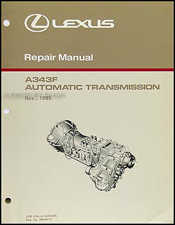 1996-2002 Lexus LX Automatic Transmission Overhaul Manual Original