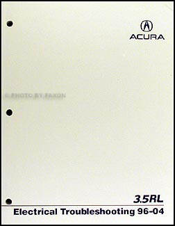 1996-2004 Acura 3.5 RL Electrical Troubleshooting Manual Original