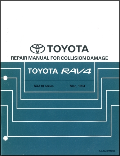 1996-2000 Toyota RAV4 Body Collision Repair Shop Manual Original