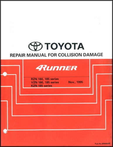 1996-2002 Toyota 4Runner Body Collision Repair Shop Manual Original