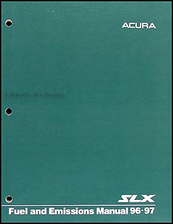 1996-1997 Acura SLX Fuel and Emissions Manual Original