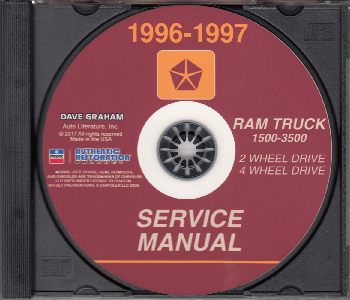 1996-1997 Dodge Ram 1500-3500 Truck Repair Shop Manual CD