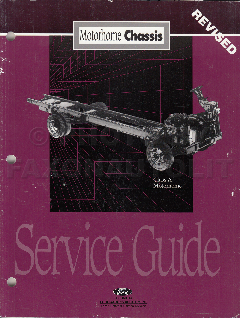 1996-1997 Ford Motorhome Chassis Service Guide Original REVISED