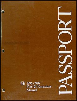 1996-1997 Honda Passport Fuel & Emissions Repair Manual Original