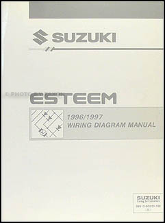 1996-1997 Suzuki Esteem Wiring Diagram Manual Original