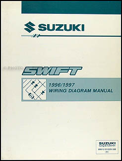 1996-1997 Suzuki Swift Wiring Diagram Manual Original