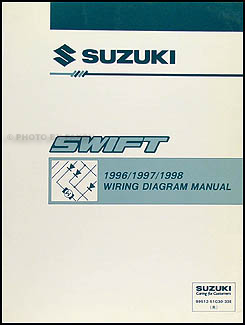 1996-1998 Suzuki Swift Wiring Diagram Manual Original