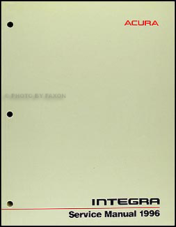 1996 Acura Integra Shop Manual Original