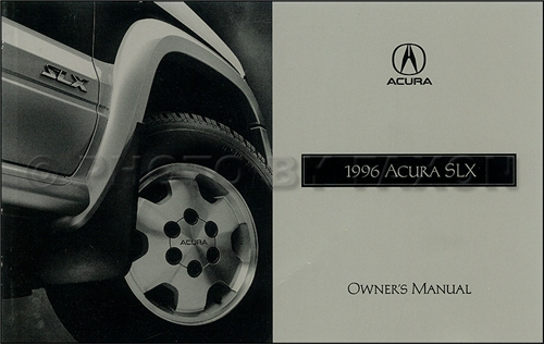 1996 Acura SLX Owners Manual Original