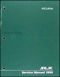 1996 Acura SLX Shop Manual Original