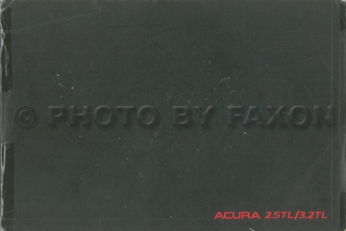 19951998    Acura       25 TL    Repair Shop Manual Original