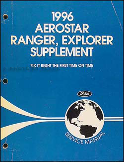 1996 Ford Aerostar Ranger Explorer Repair Manual Supplement Original
