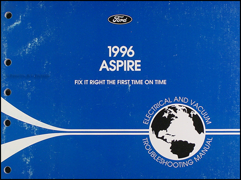 1996 Ford Aspire Electrical and Vacuum Troubleshooting Manual Original