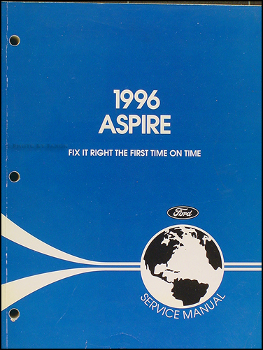 1996 Ford Aspire Shop Manual Original