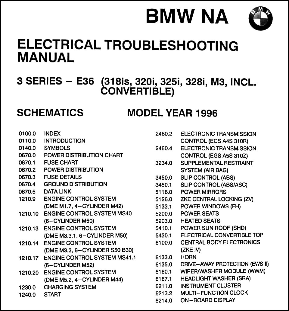 1996 bmw 318is 320i 325i 328i c m3 electrical troubleshooting manual rh  faxonautoliterature com bmw 3 series wiring diagram 2008 bmw 328i wiring  diagram