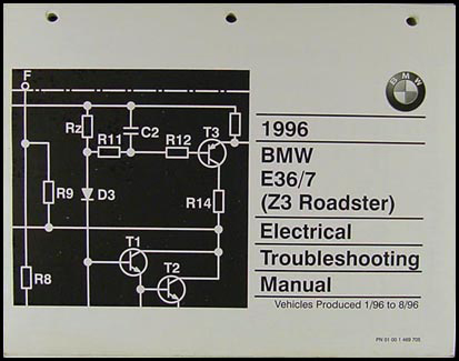 1996 BMW Z3 Roadster Electrical Troubleshooting Manual Original