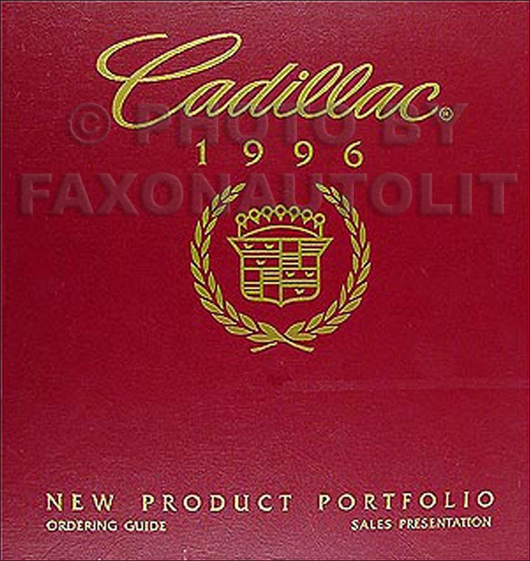 1996 Cadillac Product Portfolio - Data Book and Color & Upholstery Album