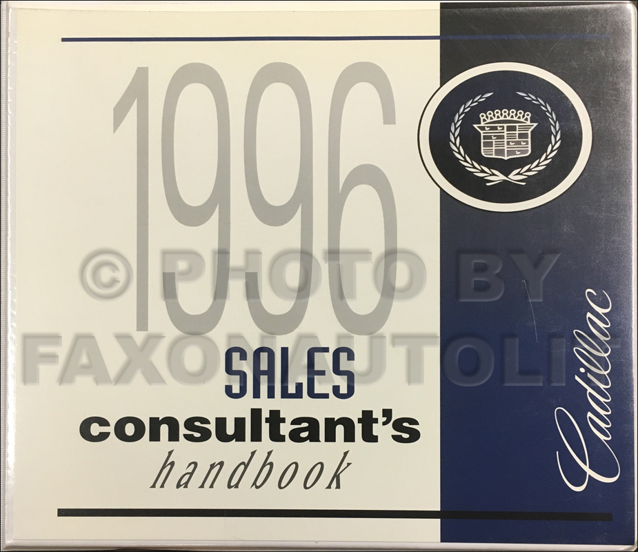 1996 Cadillac Sales Consultant Product Guide Original Canadian