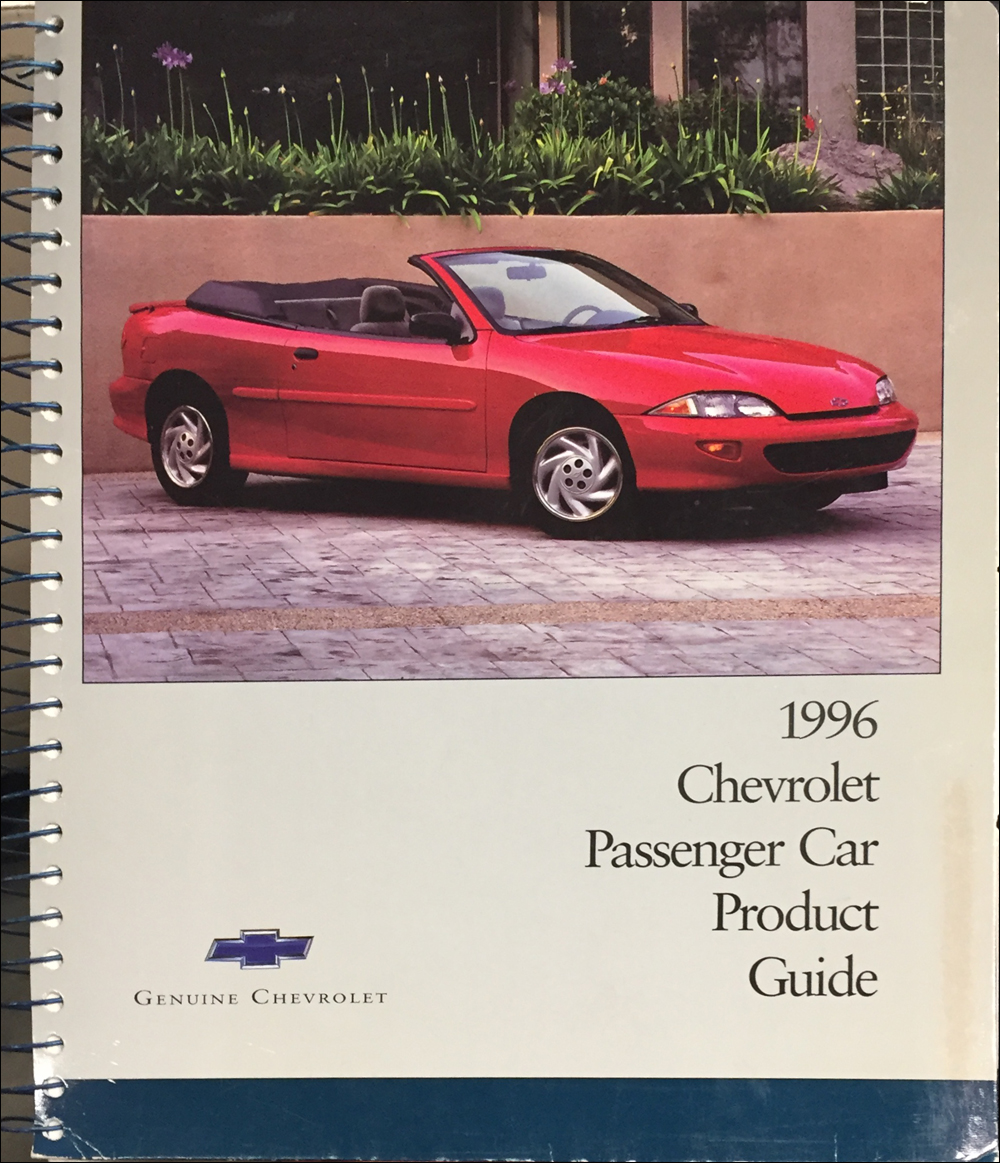 1996 Chevrolet Car Color & Upholstery Dealer Album/Data Book Original