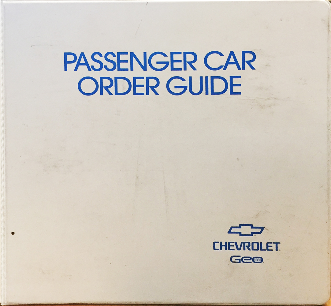 1996 Chevrolet Geo Car Order Guide Dealer Album Original