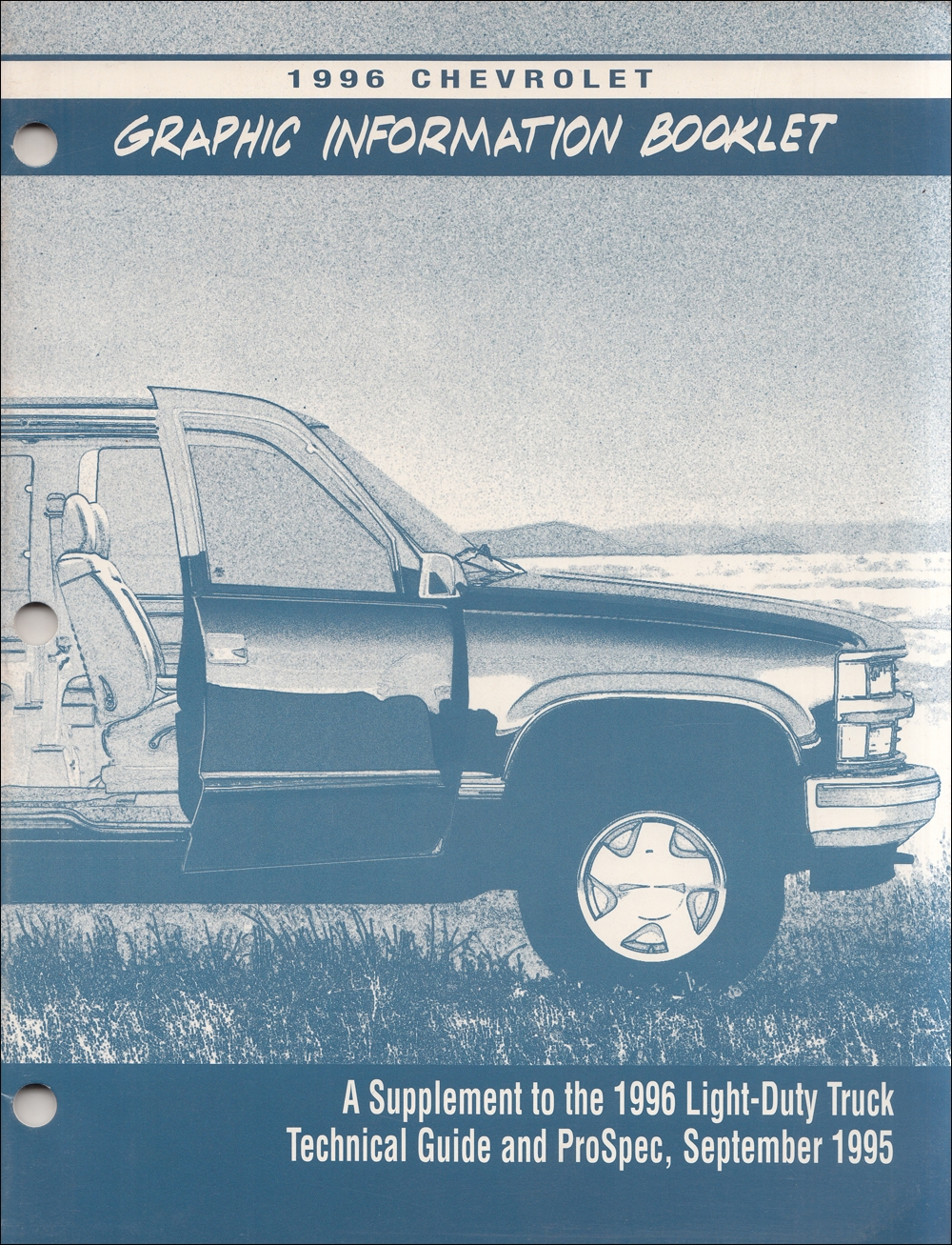 1996 Chevrolet Light Truck Graphic Color Booklet Original Supplement