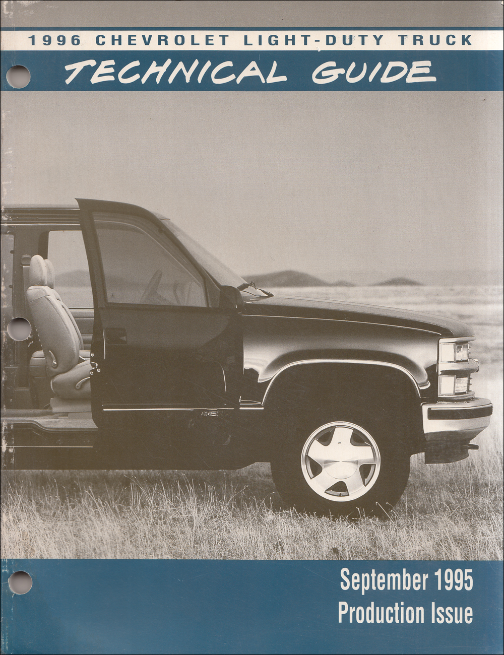 1996 Chevrolet Truck Technical Guide Dealer Album Original Production Issue