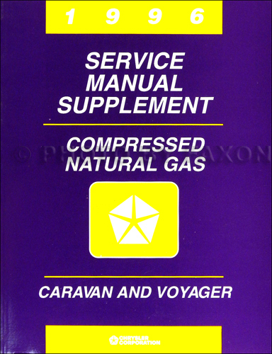 1996 Dodge Caravan & Voyager CNG Compressed Natural Gas Shop Manual Supp.