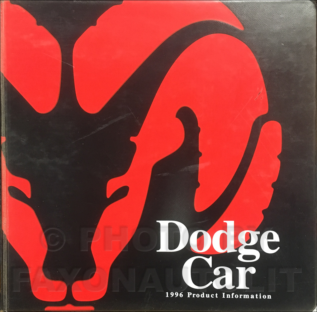 1996 Dodge Car Data Book and Color & Upholstery Album
