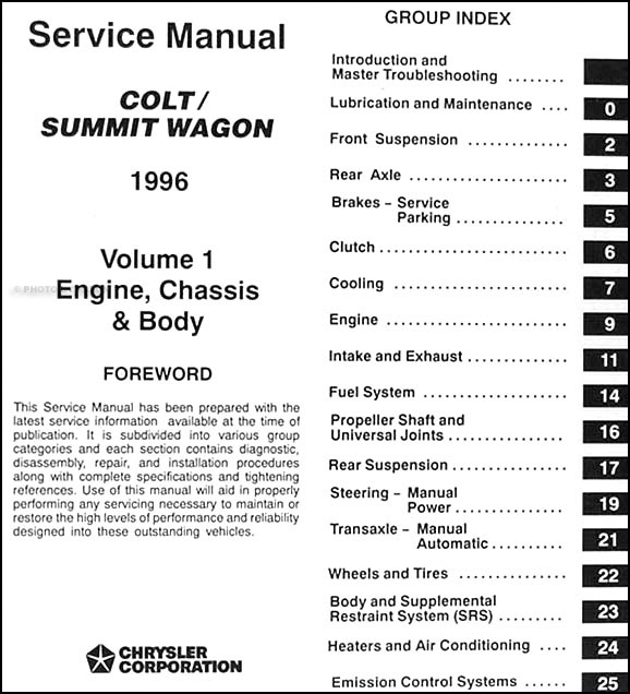1996 EAGLE SUMMIT Shop Repair Service Manual SET FACTORY DEALERSHIP HOW TO FIX