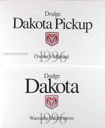 1996 Dodge Dakota Pickup Truck Original Owner's Manual