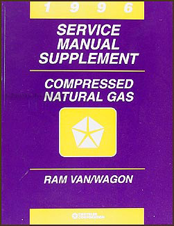 1996 Dodge Ram Van/Wagon Compressed Natural Gas Repair Shop Manual Supp.