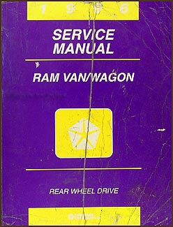 1996 Dodge Ram Van & Wagon Shop Manual Original B1500-B3500