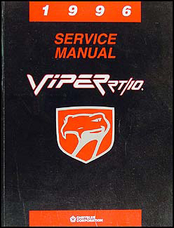 1996 Viper RT/10 Repair Manual Original