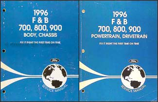 1996 Ford F and B 700 through 900 Medium/Heavy Truck Repair Shop Manual Set